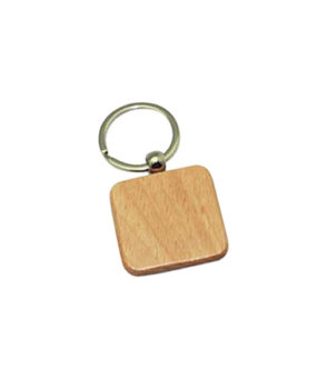 KC-531 Wooden Keychain, Square