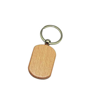 KC-532 Wooden Keychain, Oval