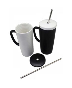 CM-9247 Ceramic Mug, with Straw