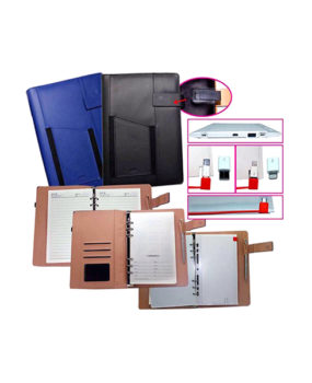 NBPU-0256 Binder Organizer, with USB and Powerbank